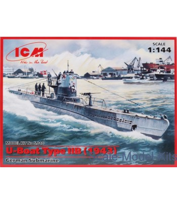 U-Boat Type IIB (1943) German Submarine ICM S.010