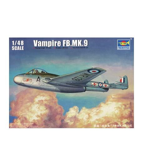 Vampire FB.MK.9 (1:48) TRUMPETER 02875