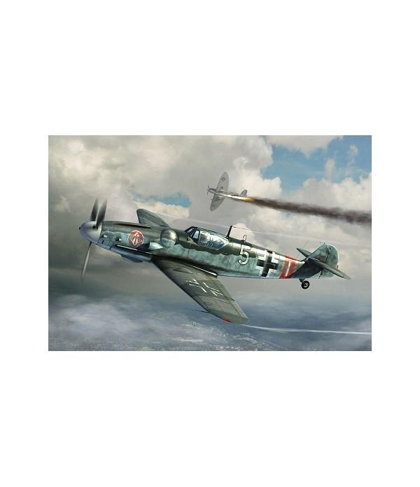 Самолет Мессершмитт Bf 109G-6 (поздний) TRUMPETER 02297