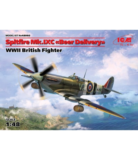 "Самолет, Спитфайр Mk.IXC ""Доставка пива"", Британский истребитель ІІ МВ ICM 48060"