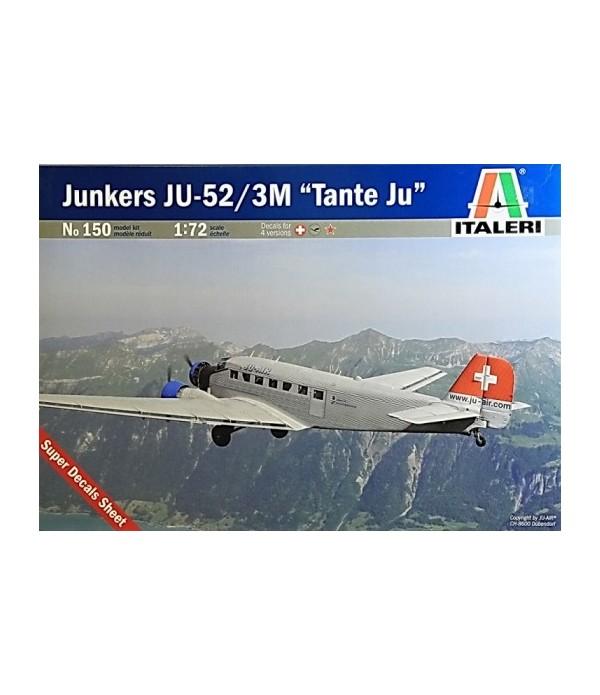 Самолет Ju-52 Civilian ITALERI 150