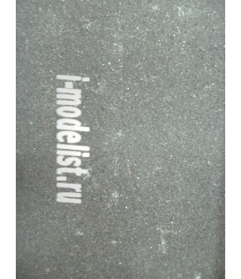 Имитация асфальта пластина №1 гладкий черный 244х164х5мм для 1/72, 1/43, 1/48, 1/35, 1/24