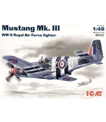 Мустанг MK III BBC Великобретании, самолёт ICM 48123