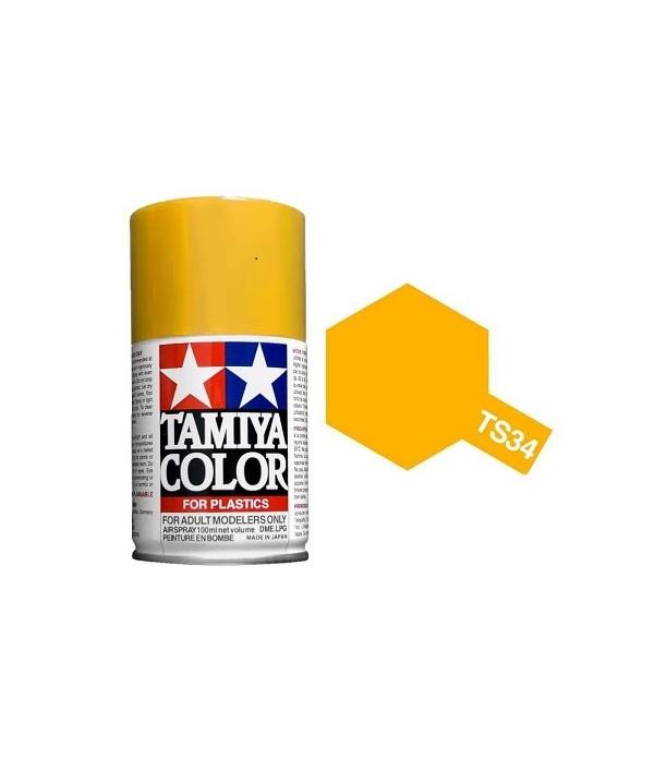 TS-34 Camel Yellow (Пустынная жёлтая) краска-спрей 100 мл. TAMIYA 85034