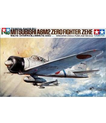 Японский истребитель Мицубиси А6М2 Тип 21 Зеро (Зике) TAMIYA 61016