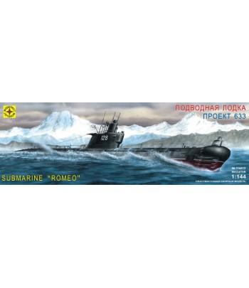 """Подводная лодка типа """"С"""" - средняя проекта 633 ВМФ СССР МОДЕЛИСТ 114412"""