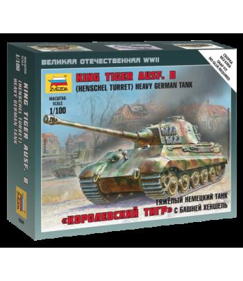 "Немецкий тяжелый танк T-VI Ausf.B ""Королевский тигр"" с башней Хеншель ЗВЕЗДА 6204"