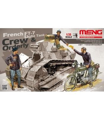 Экипаж французского танка FT-17 MENG HS-005