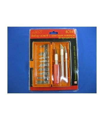 Набор ножей с цанговым зажимом (алюминий), 16 предметов JAS 4014