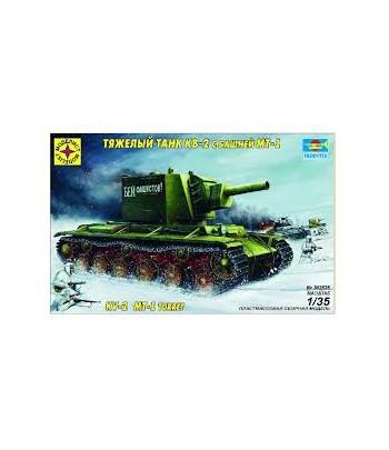 Тяжелый танк КВ-2 с башней МТ-1 МОДЕЛИСТ 303528