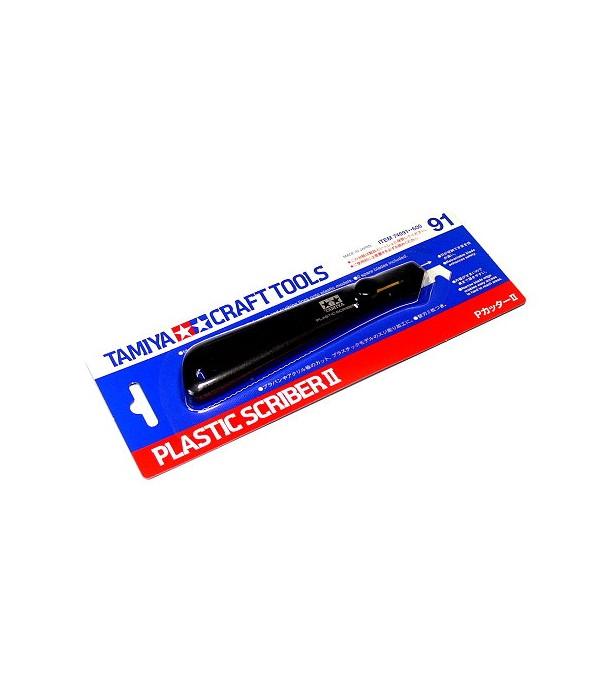 Скрайбер для пластика с 2 дополнительными лезвиями в ручке TAMIYA 74091
