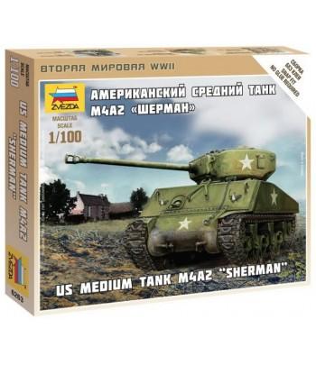 """Американский средний танк M4A2 """"Шерман"""" ЗВЕЗДА 6263"""