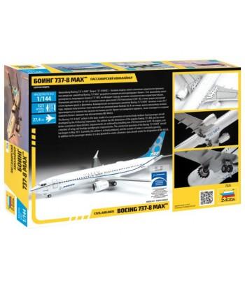 Пассажирский авиалайнер Боинг 737-8 MAX ЗВЕЗДА 7026