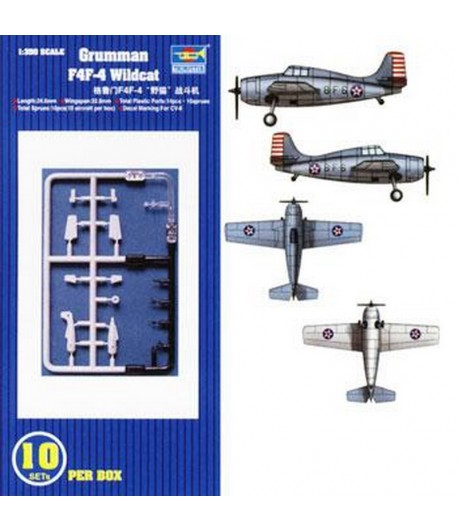 "Самолет Grumman F4F-4 ""Wildcat"" (10pcs.) 1:350 TRUMPETER 06202"