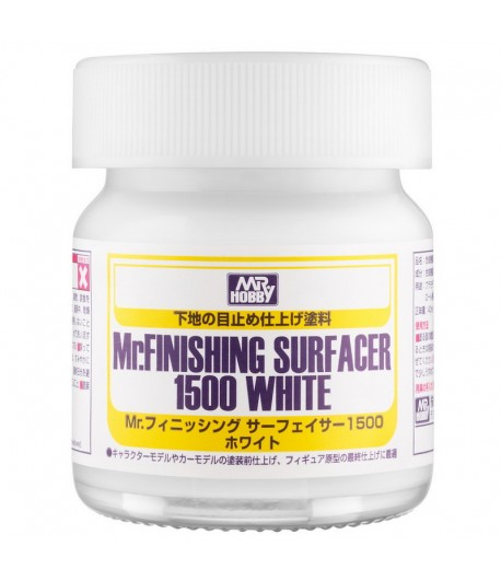 Грунтовка Mr.FINISHING SURFACER 1500 WHITE 40мл SF291 GUNZE SANGYO SF291