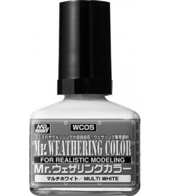 WC05 Смывка MR.WEATHERING COLOR MULTI WHITE 40 мл GUNZE SANGYO