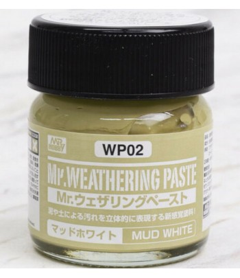 WP02 Текстурная паста MR.WEATHERING PASTE MUD WHITE 40 мл GUNZE SANGYO