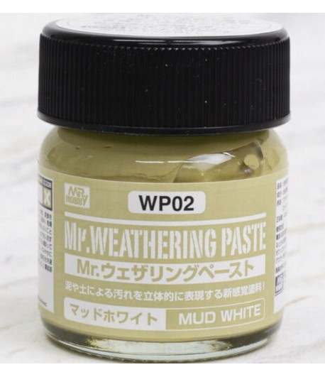 WP02 Текстурная паста MR.WEATHERING PASTE MUD WHITE 40 мл GUNZE SANGYO