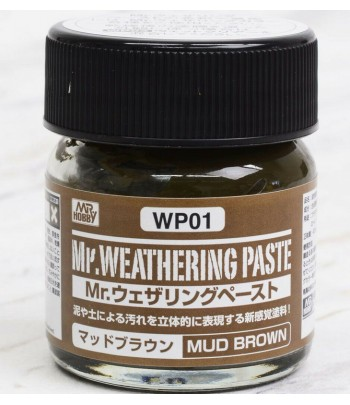 WP01 Текстурная паста MR.WEATHERING PASTE MUD BROWN 40 мл GUNZE SANGYO