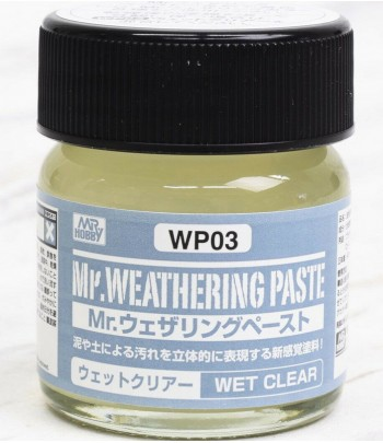 WP03 Текстурная паста MR.WEATHERING PASTE WET CLEAR 40 мл GUNZE SANGYO