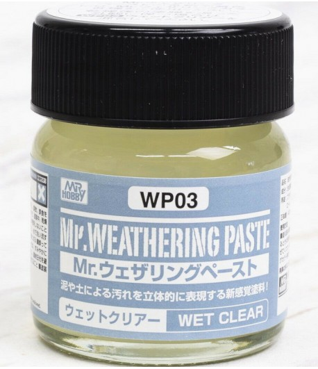 WP03 Текстурная паста MR.WEATHERING PASTE WET CLEAR 40 мл GUNZE SANGYO