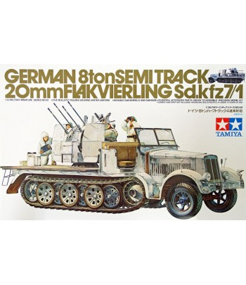 Немецкий полугусеничный тягач с 20 мм зенитной установкой и 5 фигурами TAMIYA 35050