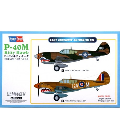 Самолет P-40E Kitty Hawk Fighter 1/48 HOBBY BOSS 85801