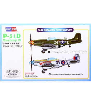 Самолет P-51D Mustang IV Fighter HOBBY BOSS 85802