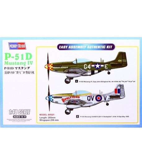 Самолет P-51D Mustang IV Fighter HOBBY BOSS 85802