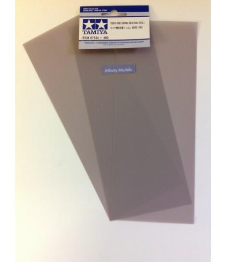 Набор шлифовальной бумаги (на основе полиэстровой пленки) #3000 - 3шт. TAMIYA 87144