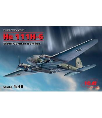 Германский бомбардировщик ІІ МВ, He 111H-6 ICM 48262