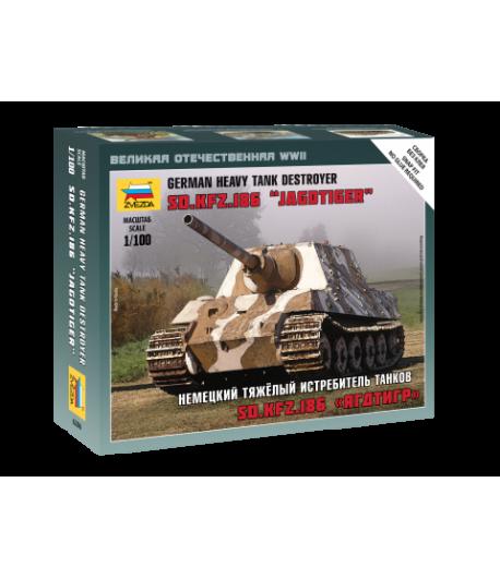 """Немецкий тяжелый истребитель танков Sd.Kfz.186 """"Ягдтигр"""" ЗВЕЗДА 6206"""
