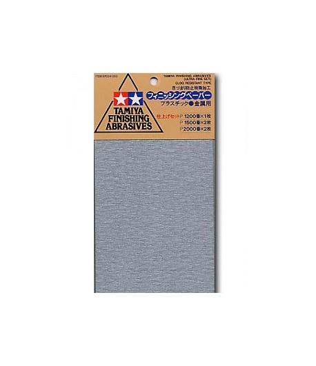 Набор шлифовальной бумаги #1200-1шт, 1500-2шт, 2000-2шт TAMIYA 87024