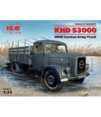 KHD S3000, WWII Немецкий армейский грузовой автомобиль ICM 35451