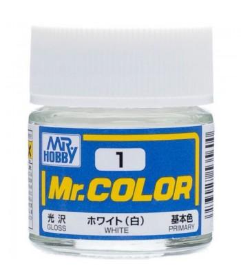 C1 краска художественная MR.HOBBY 10мл WHITE GUNZE SANGYO