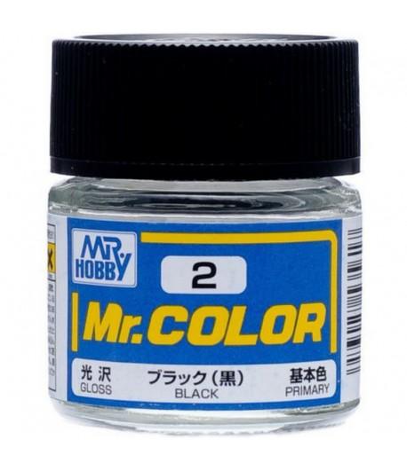 C2 краска художественная MR.HOBBY 10мл BLACK GUNZE SANGYO