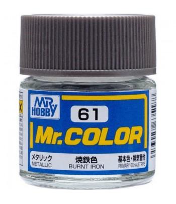 C61 краска художественная MR.HOBBY 10мл BURNT IRON GUNZE SANGYO