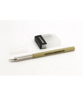 Дизайнерский нож с 25 дополнительными лезвиями, темно-желтая ручка TAMIYA 89982