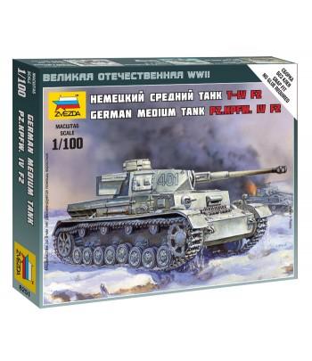 Немецкий средний танк Т-IV F2 ЗВЕЗДА 6251