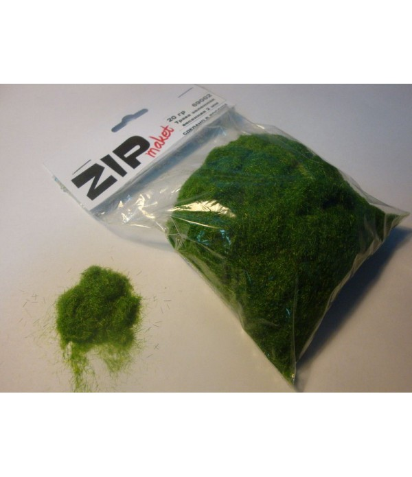 Трава зеленая весенняя 2 мм, 20 грамм ZIP-maket 69002