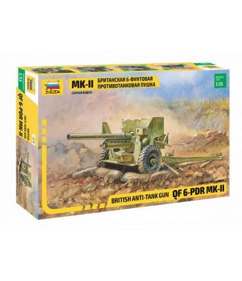 Британская 6-фунтовая противотанковая пушка Mk-II (Ограниченный выпуск) ЗВЕЗДА 3518