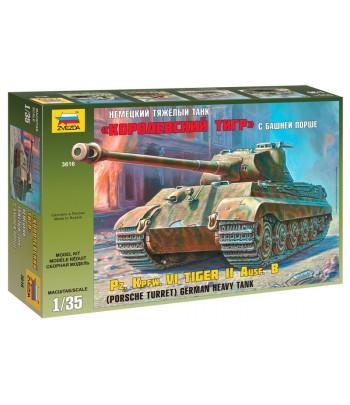 Тяжелый немецкий танк T-VIB «Королевский Тигр» с башней Порше ЗВЕЗДА 3616