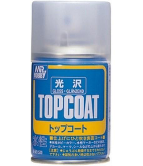 B-501 Лак-спрей Mr.Top Coat - gloss Spray 86 мл GUNZE SANGYO