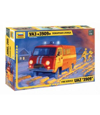 Российский автомобиль УАЗ «3909» Пожарная служба ЗВЕЗДА 43001