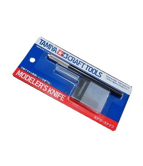 Модельный цанговый нож с 25 дополнительными лезвиями TAMIYA 74040