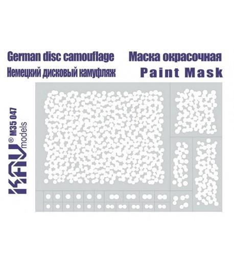 Немецкий дисковый камуфляж, трафарет KAVmodels KAV M35 047
