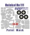 Окрасочная маска на остекление He-111 (ICM) KAVmodels KAV M48 023