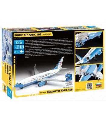 Пассажирский авиалайнер Боинг 737-700 С-40B ЗВЕЗДА 7027