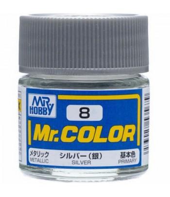 C8 краска художественная MR.HOBBY 10мл SILVER