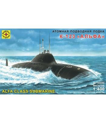 """Атомная подводная лодка К-123 (""""Альфа"""") (1:400) МОДЕЛИСТ 140054"""